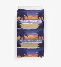 Sunset on beach 2 Duvet Cover