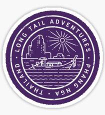 Long Tail Adventures Phang Nga Thailand Sticker