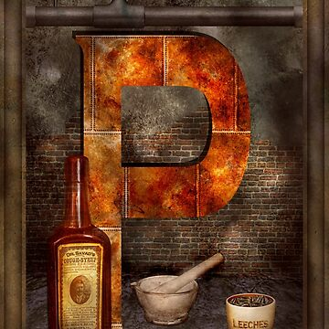 Steampunk - Alphabet - P is for Pharmacy by mikesavad