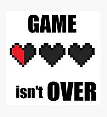 game over ? Photographic Print