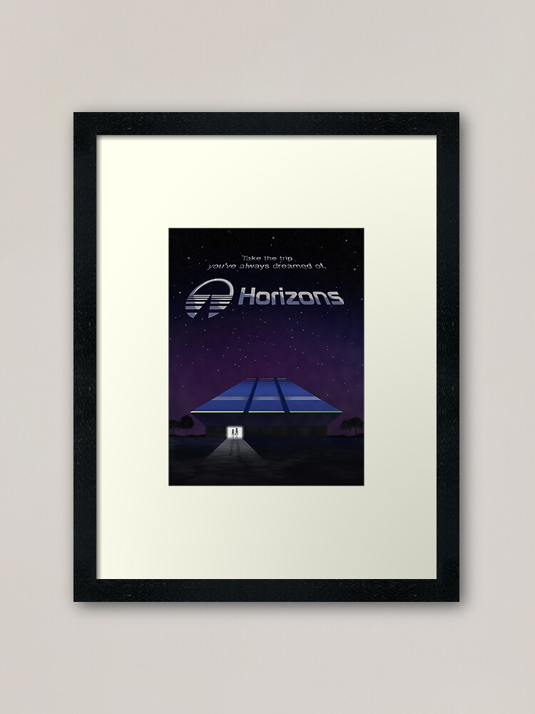 Alternate view of Horizons from EPCOT Center (with Text) Framed Art Print