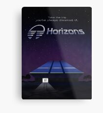 Horizons from EPCOT Center (with Text) Metal Print
