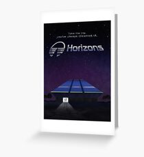 Horizons from EPCOT Center (with Text) Greeting Card