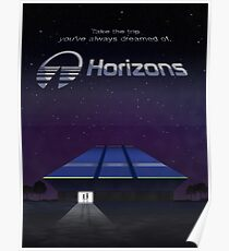 Horizons from EPCOT Center (with Text) Poster