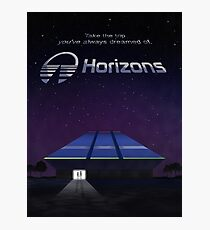 Horizons from EPCOT Center (with Text) Photographic Print
