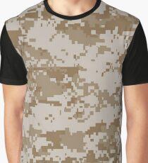 Camo, USMC Digital Desert Graphic T-Shirt