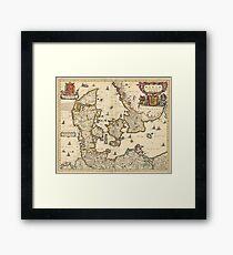 Vintage Map of Denmark (1690) Framed Print