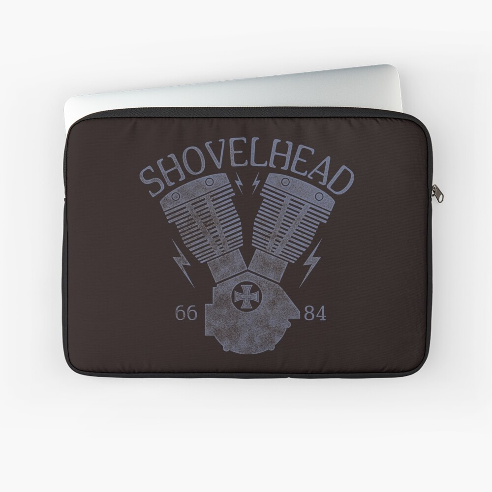Shovelhead Motorcycle Engine Laptoptasche