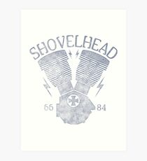 Shovelhead Motorcycle Engine Kunstdruck