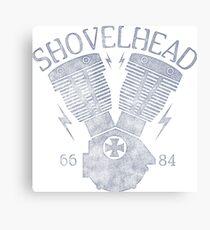 Shovelhead Motorcycle Engine Metallbild