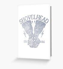 Shovelhead Motorcycle Engine Grußkarte
