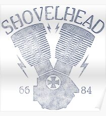 Shovelhead Motorcycle Engine Poster