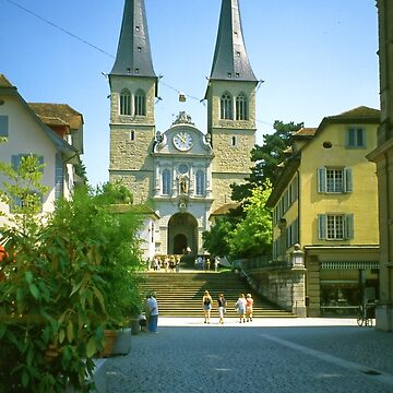 Sankt Leodegar Cathedral, Luzern, Switzerland by PriscillaTurner