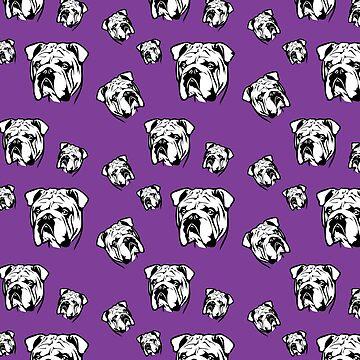 English Bulldog Purple Pattern by fuseleven