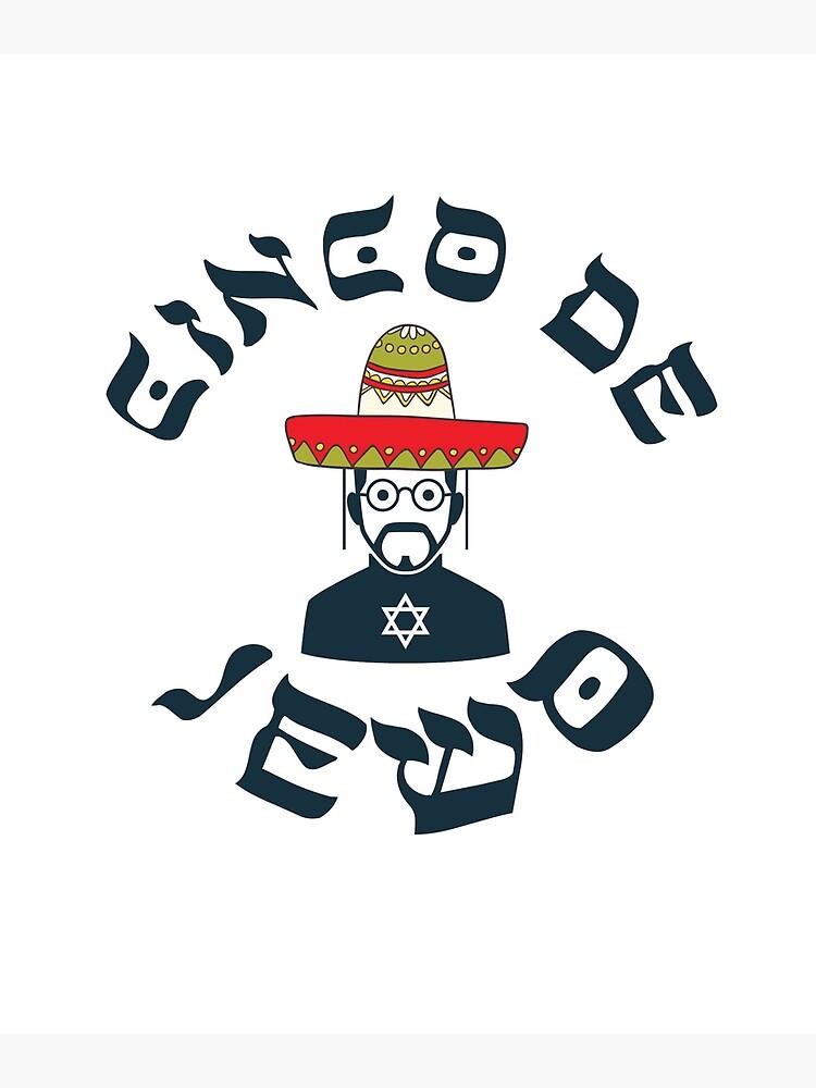 Funny Jewish Sweatshirt For Cinco De Mayo Jewo Mexican Jew Greeting Card
