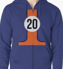 GULF RACING TEAM Zipped Hoodie