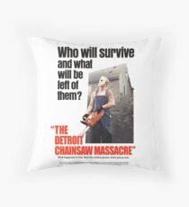 The Detoit Chainsaw Massacre Throw Pillow