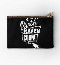 Quoth the Raven, Corn! (White) Studio Pouch