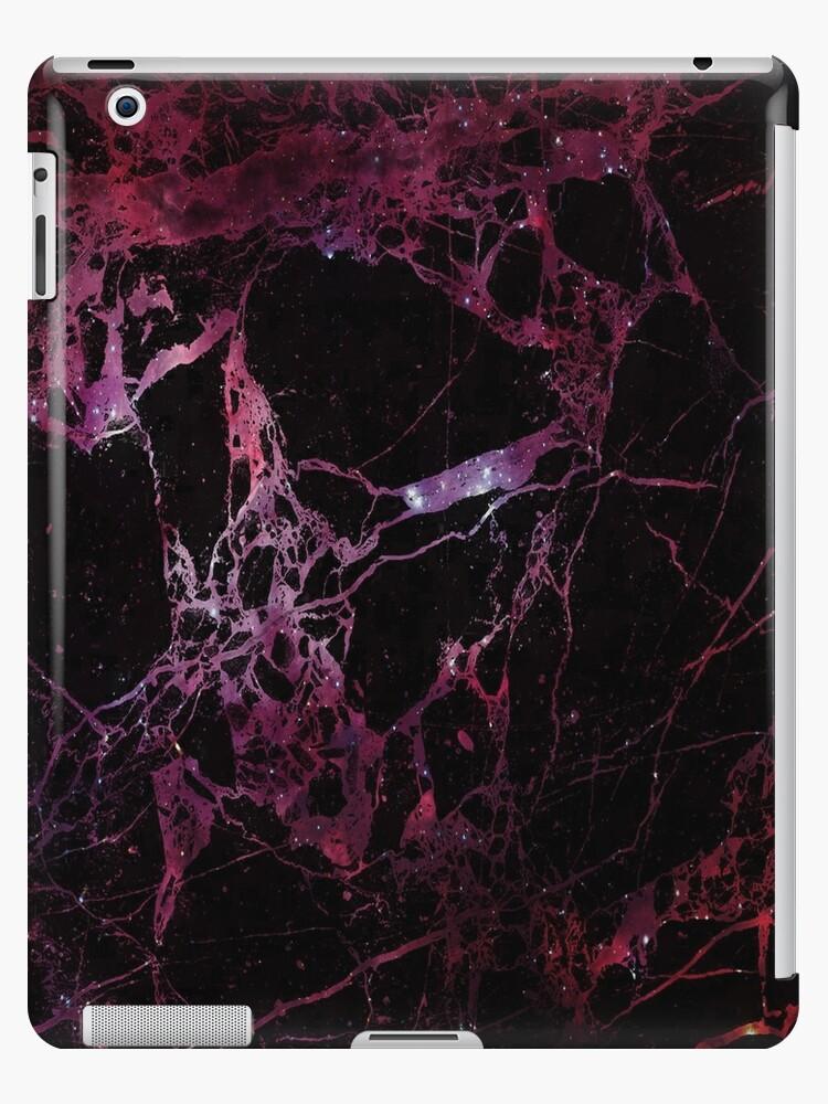 Coque et skin adhésive iPad \'Texture de galaxie de marbre - galaxie rouge\'  par Vane22april