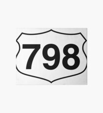 Route 798 to drive on the highway Art Board