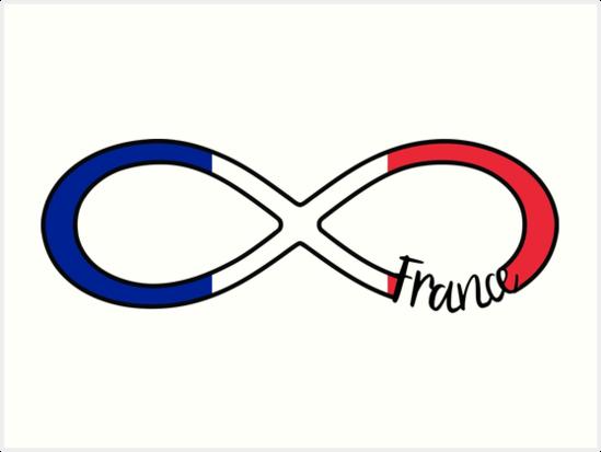 France Infinity France Infinity Symbol Art Prints By Xsylx Redbubble