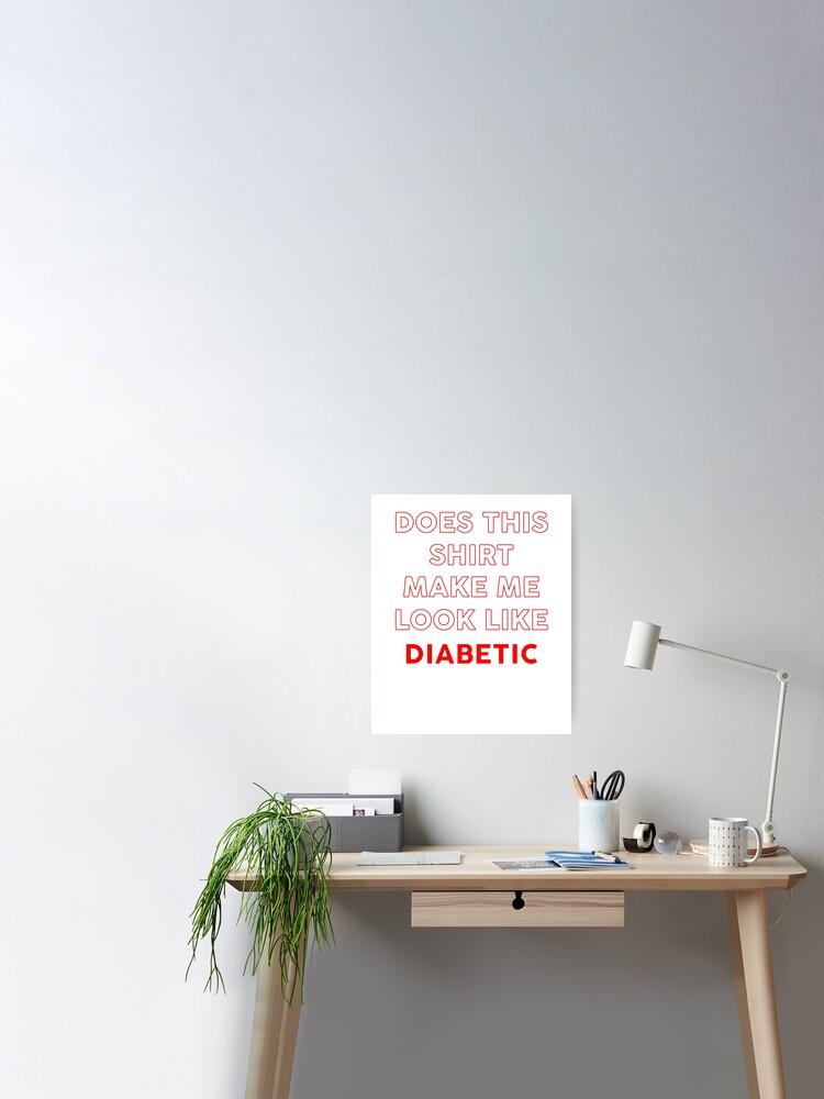 camisas de memes de diabetes