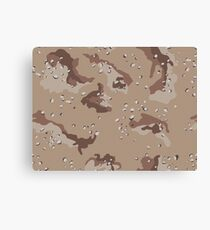 Camo, US Chocolate Desert Canvas Print
