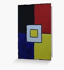 Ode to Mondrian Pt 4 Greeting Card