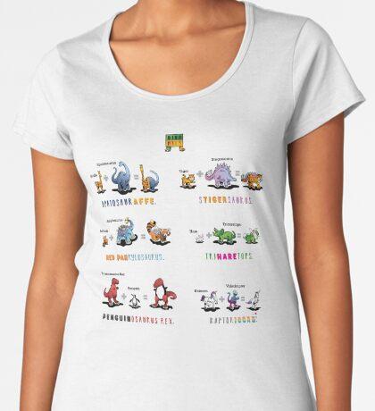 Dinomals Cheat Sheet! Premium Scoop T-Shirt