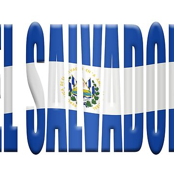 El Salvador country name overlaid with the flag by stuwdamdorp