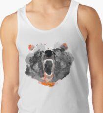 go bears! in black roaring bear Men's Tank Top
