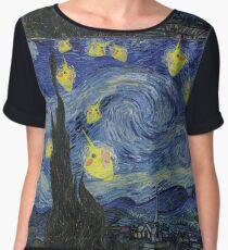 Cockatiel Starry Night Chiffon Top