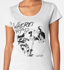 Where's The Pit!? (transparent) Women's Premium T-Shirt