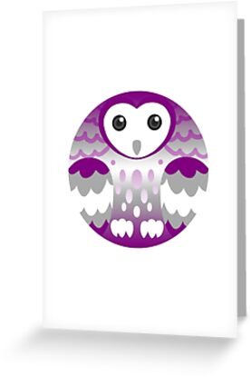 Grey asexual pride owl greeting cards by furvanoctua redbubble grey asexual pride owl by furvanoctua m4hsunfo