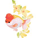 Ranchu and Forsythias 1 by pikaole