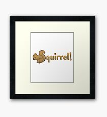 Squirrel! For entertaining conversations Framed Print