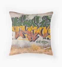 Graffitti Signed Throw Pillow