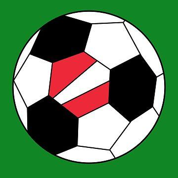 Austrian Soccer Ball - Austrian Football Fans - Austrian Flag by Natalia-Art