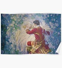 Sleeping Beauty and the Prince - Elenore Abbott Poster