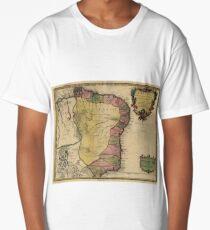 Vintage Map of Brazil (1719) Long T-Shirt