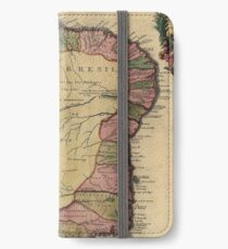 Vintage Map of Brazil (1719) iPhone Wallet/Case/Skin