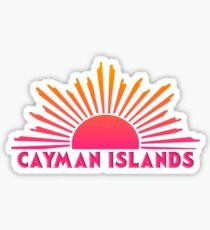 CAYMAN ISLANDS Souvenir Reise Geschenk Bright Ombre Sun Sticker