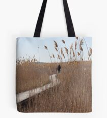 On The Boardwalk At Plum Island Tote Bag
