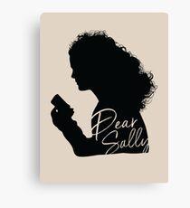 Dear Sally (Black Version) Canvas Print