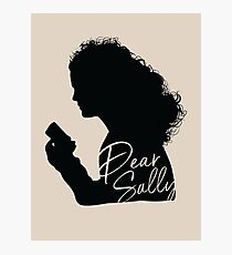 Dear Sally (Black Version) Photographic Print