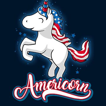 Americorn-Patriotic Proud American Unicorn Kids Gift by Cheesybee
