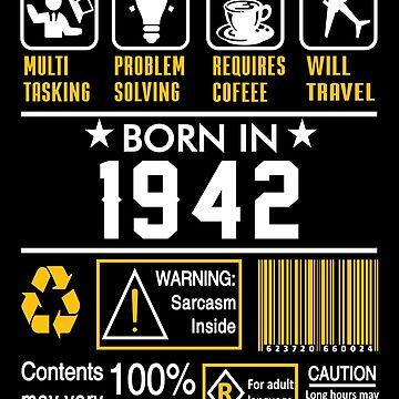 Birthday Gift Ideas - Born In 1942 by wantneedlove