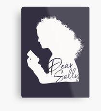 Dear Sally (White Version) Metal Print