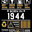 Birthday Gift Ideas - Born In 1944 by wantneedlove