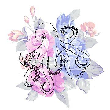 Floral Octopus by Bfiggins